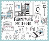 Handdrawn_homefurnishing_bedroom