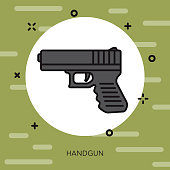 Handgun Military Icon