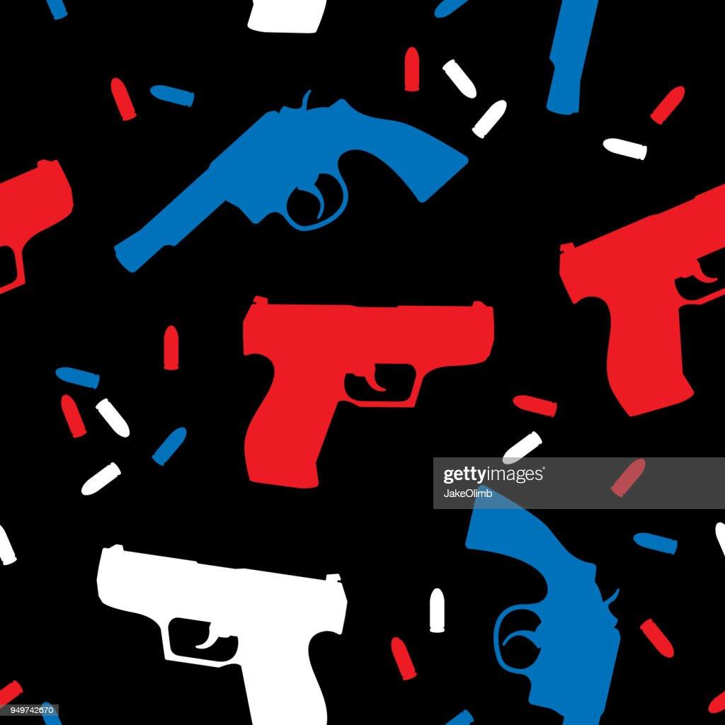 Handgun Silhouettes USA Pattern : stock illustration