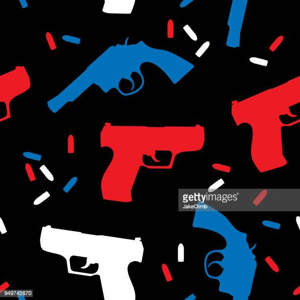 ilustrações de stock, clip art, desenhos animados e ícones de handgun silhouettes usa pattern - armadefogo