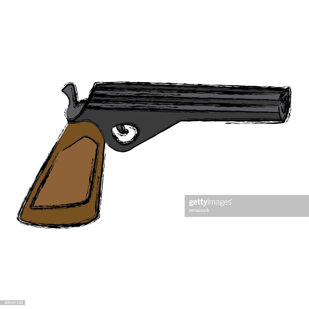 Handgun weapon isolated