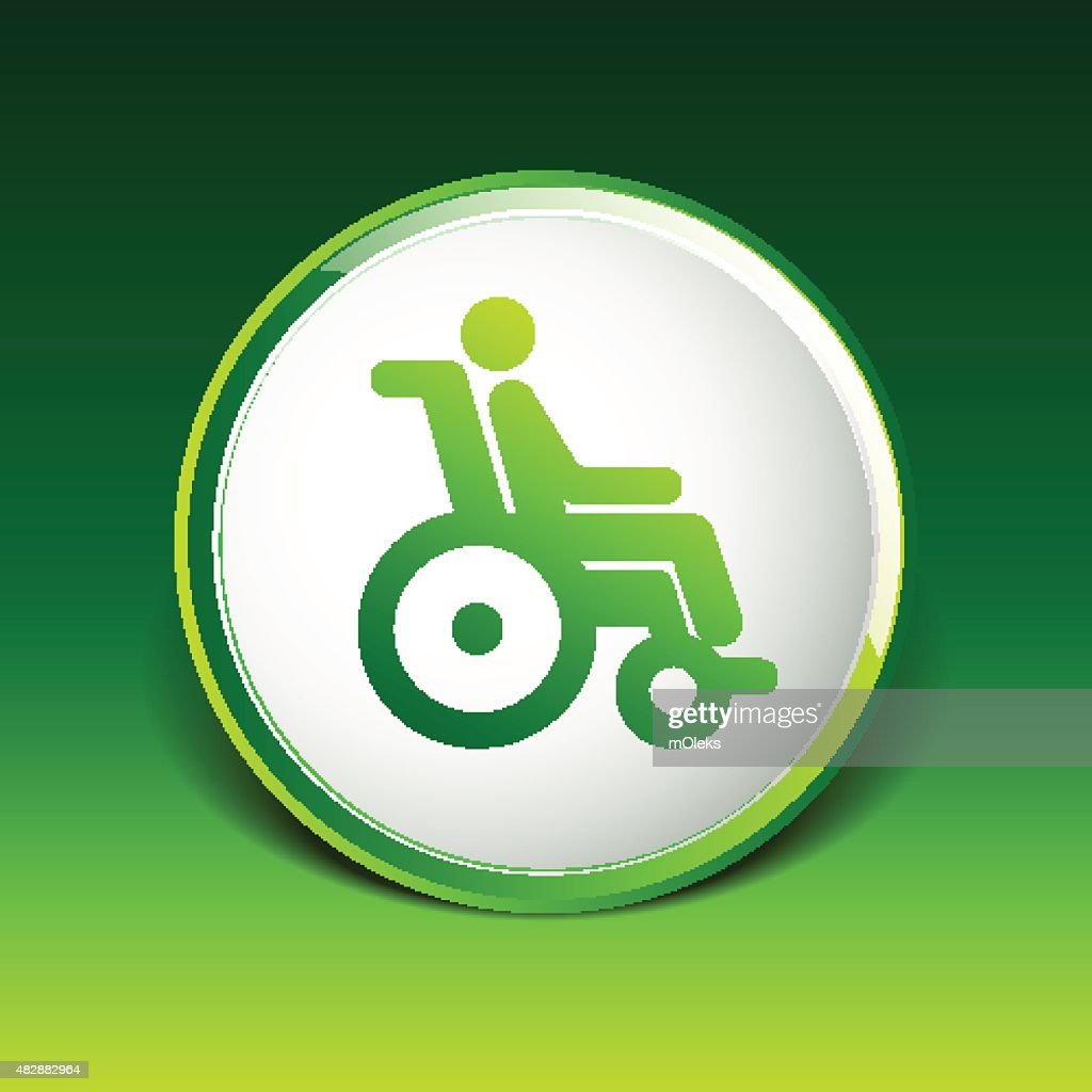 Handicap Handicapped Chair Wheel Accessible An Invalid Icon Vector ...