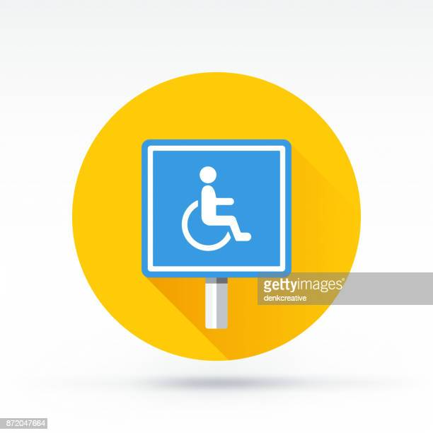 handicapped sign - disabled sign stock illustrations, clip art, cartoons, & icons