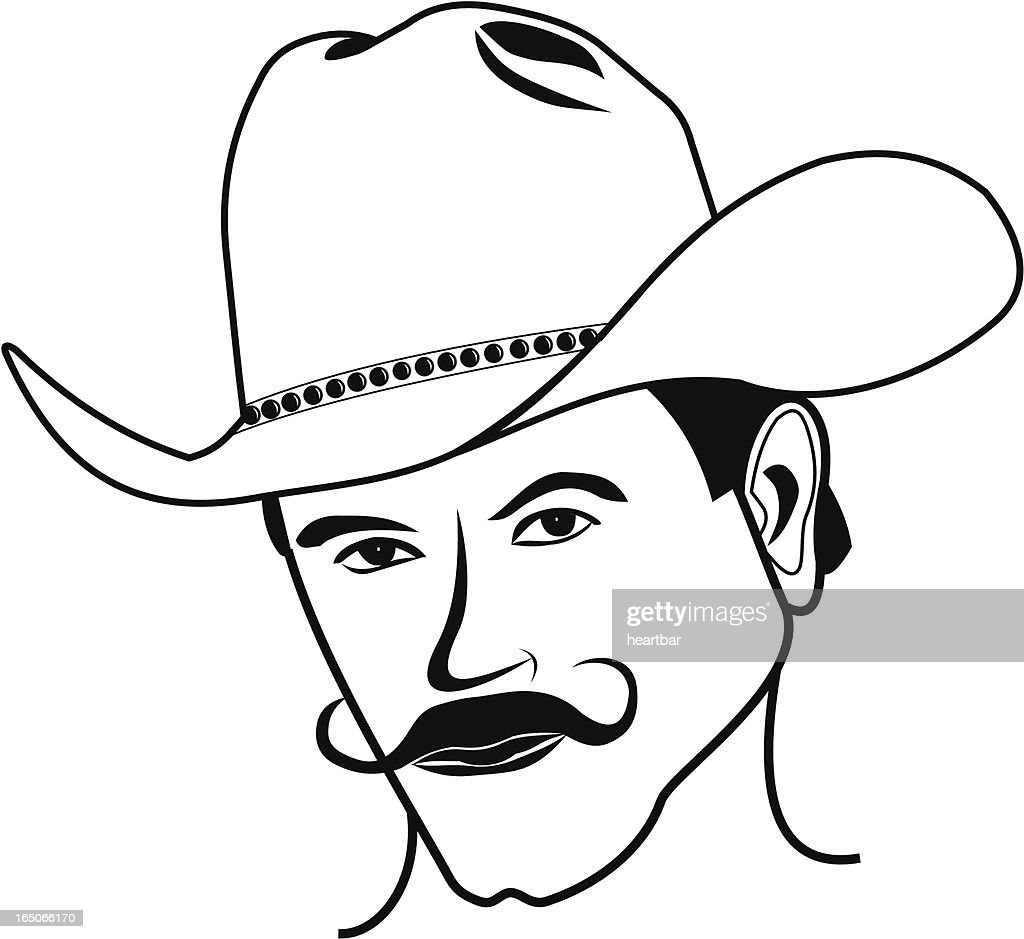Handlebar Cowboy : stock illustration