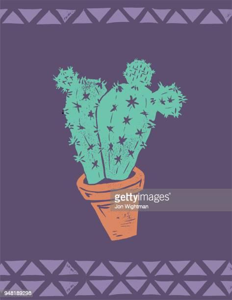 Handmade Cactus Print