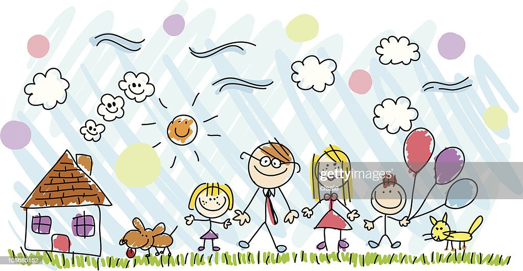 Handmade Cartoon Family Drawing Illustration High Res Vector Graphic Getty Images You can download family cartoon posters and flyers templates,family cartoon backgrounds,banners,illustrations and graphics image in psd and vectors for free. https www gettyimages com detail illustration handmade cartoon family drawing illustration royalty free illustration 108685152