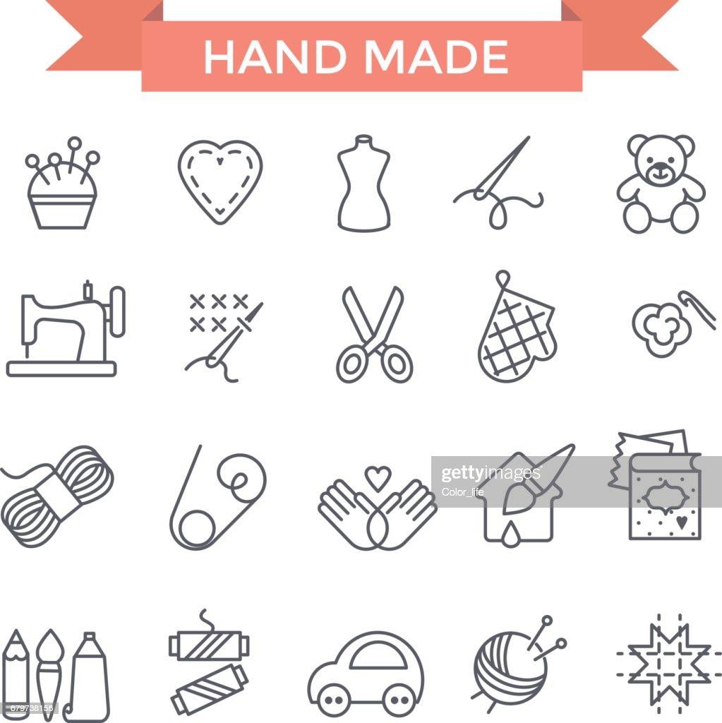 Handmade icons.