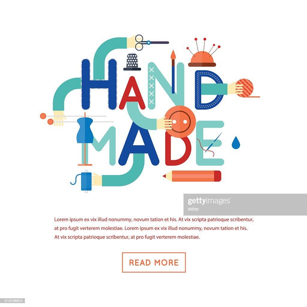 Handmade. Typographic poster