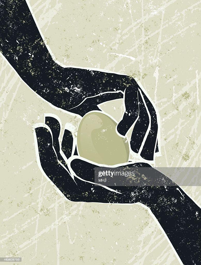 Hand's Cradling an Egg