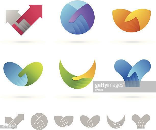 illustrazioni stock, clip art, cartoni animati e icone di tendenza di mani/elementi di design - scuotere