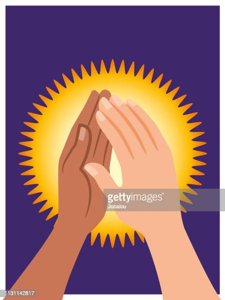 Hands Give Hi Five Gesture of Success