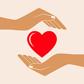 Hands Giving Love Symbol.