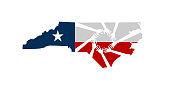 Hands Helping North Carolina Vector Illustration