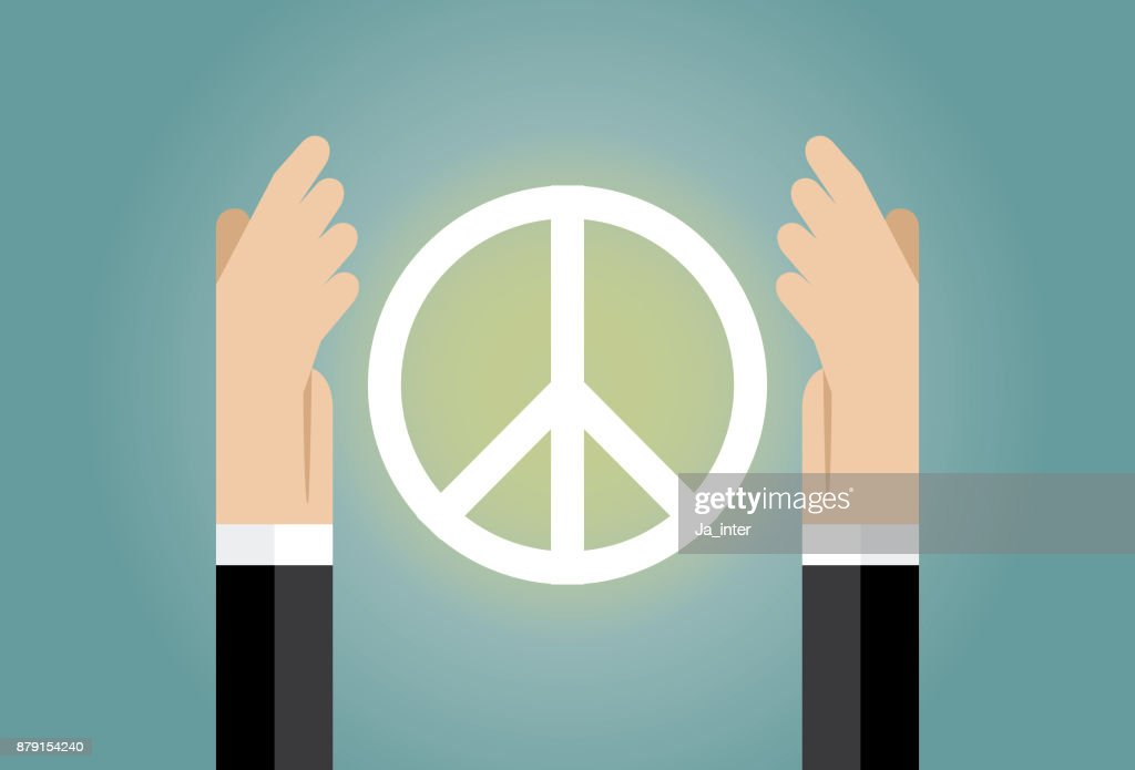 Hands Holding A Peace Symbol Vector Art Getty Images
