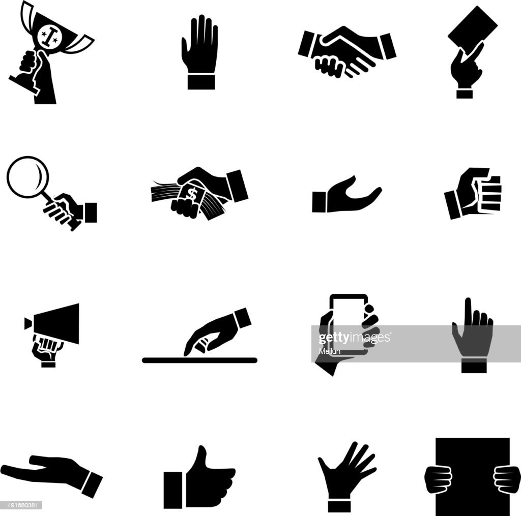 Hands Icons and Symbol Design Template Vector Illustration
