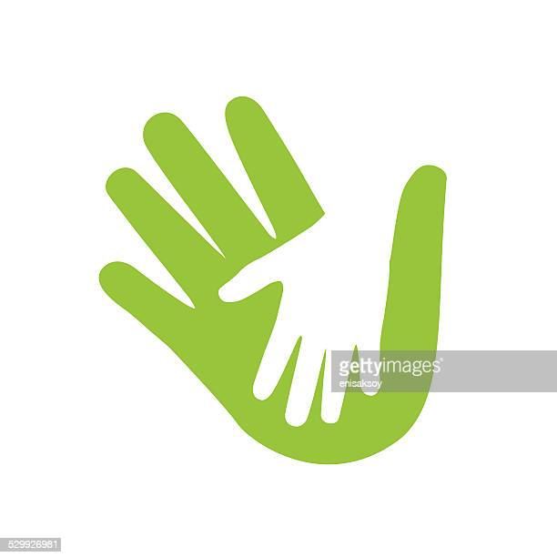 hands illustration - parent stock illustrations