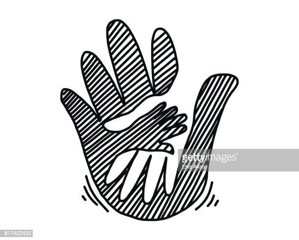 hands illustration - adult stock illustrations