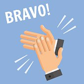 Hands Palm Applause Clapping Bravo Illustration