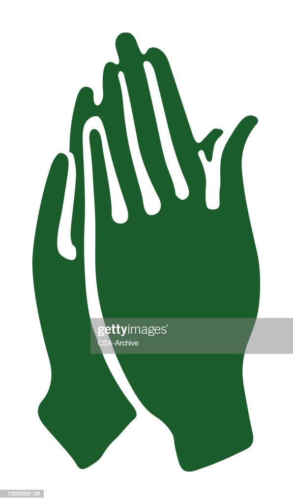 Hands Praying : Stock Illustration
