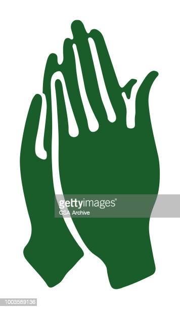 hands praying - applauding stock illustrations, clip art, cartoons, & icons