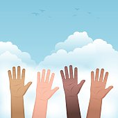 Hands Raised People