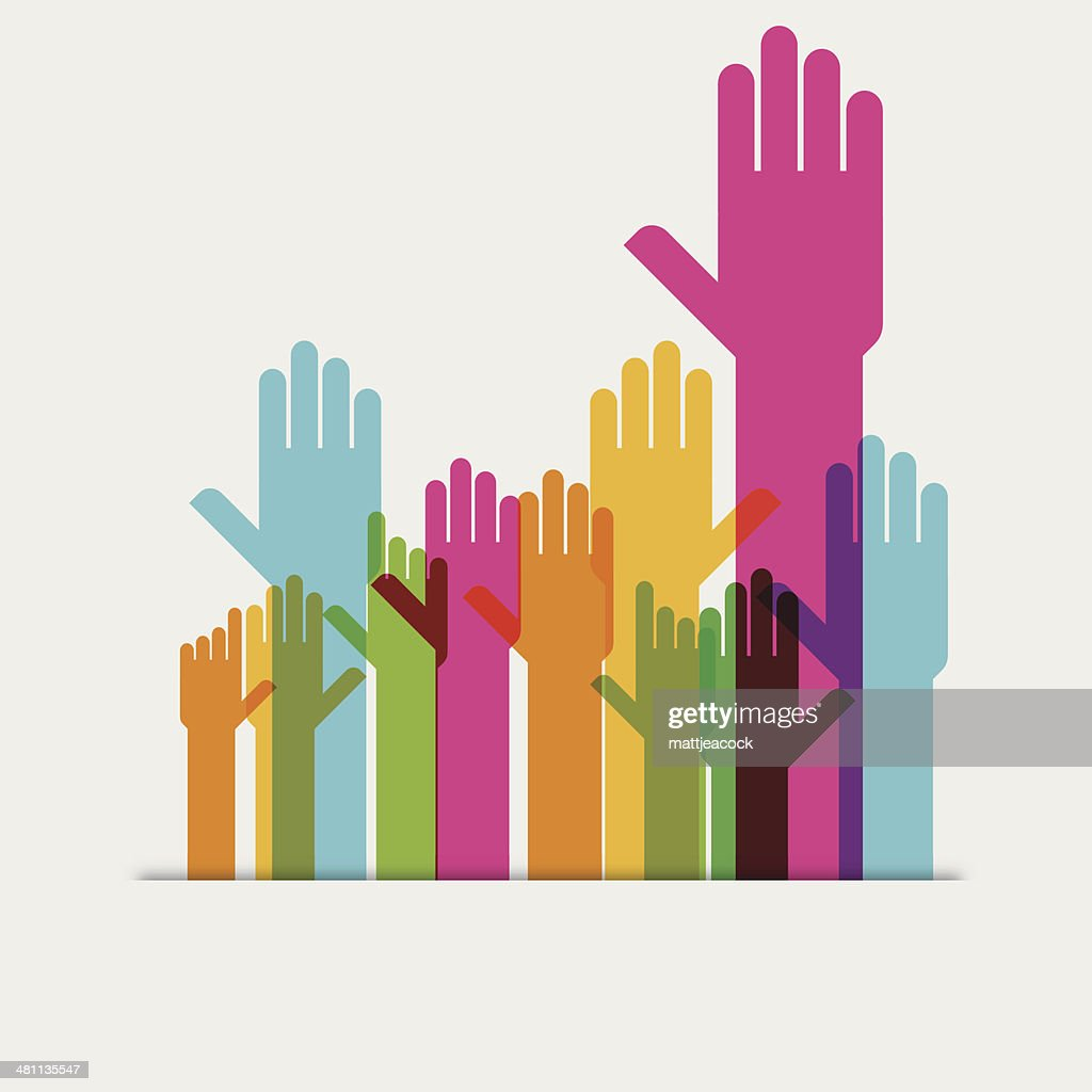 Hands raised