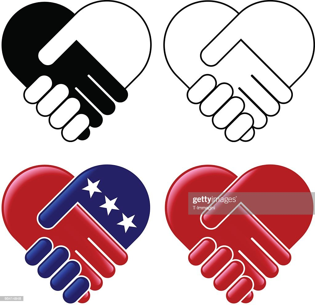 hands shaking heart vector art getty images