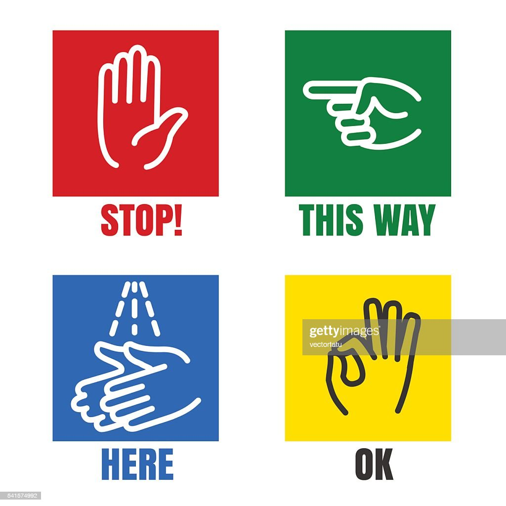 Hands signs icons