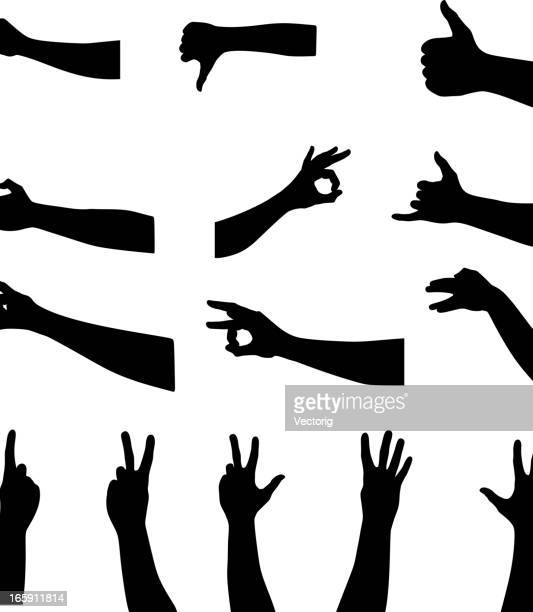 hands silhouette - wrist stock illustrations, clip art, cartoons, & icons
