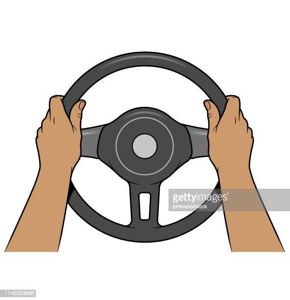 Hands steering illustration