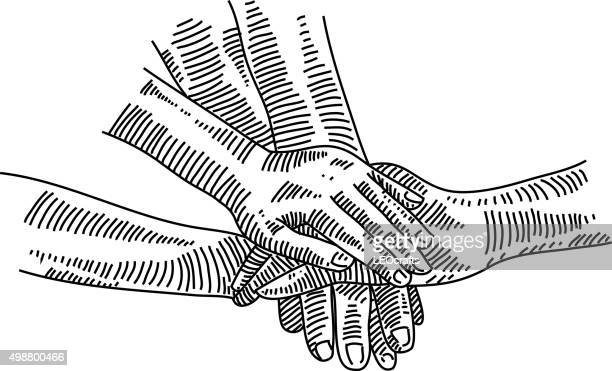 Hands together Drawing