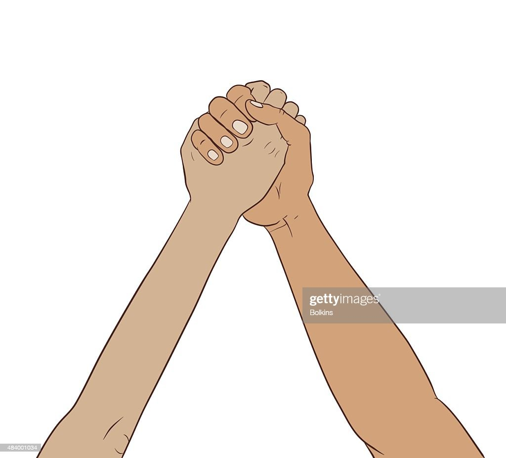 hands together in the air