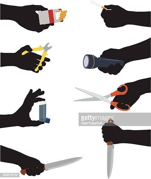hands - flashlight stock illustrations, clip art, cartoons, & icons
