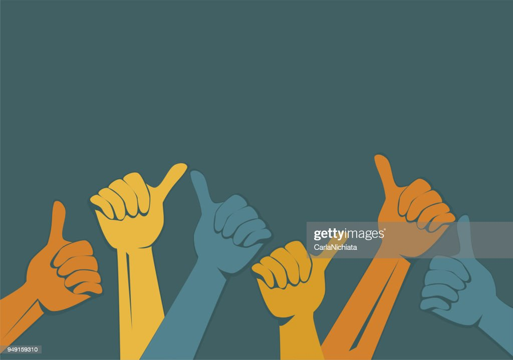 Hands vector. Thumbs up