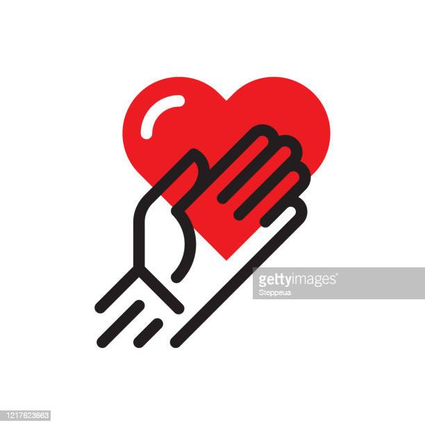 hands with heart - foundation make up stock illustrations
