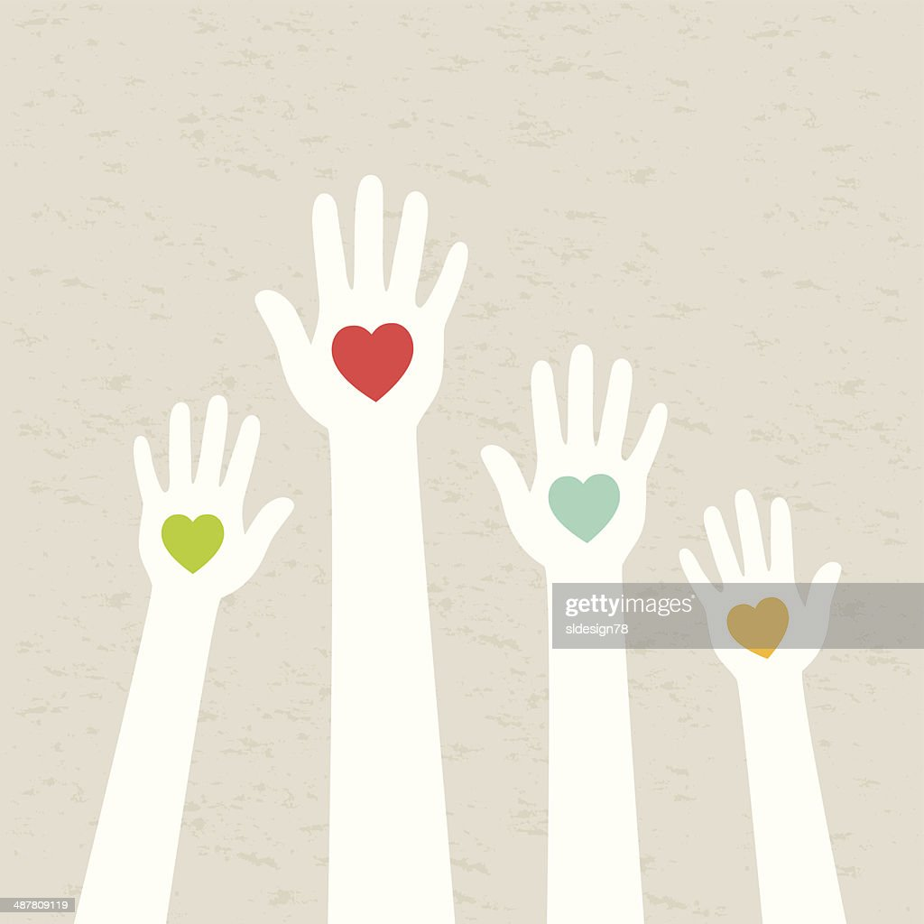 Hands with hearts