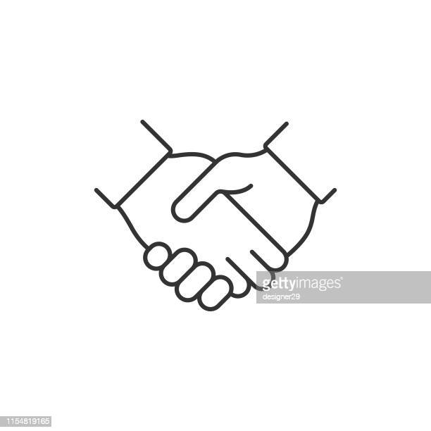 handshake and agree icon. - respect stock illustrations