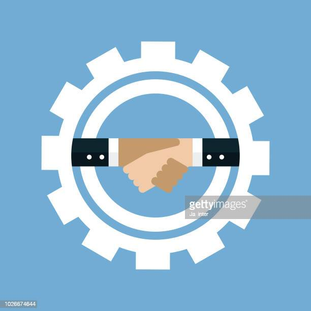 Handshake and gear