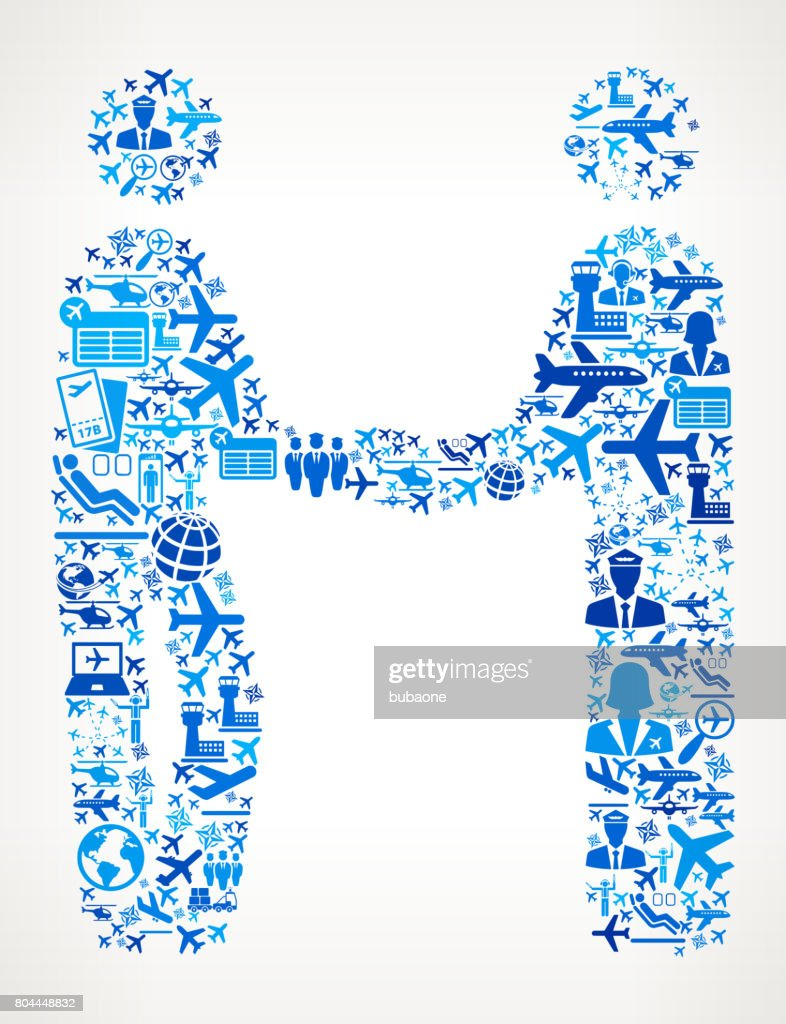 Handshake  Aviation and Air Planes Vector Graphic : stock illustration