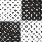 Handshake Big & Small Seamless Pattern Set