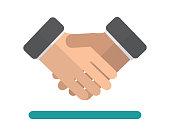 handshake flat icon illustration vector,deal flat icon illustration vector