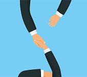 Handshake flat style. - stock vector.