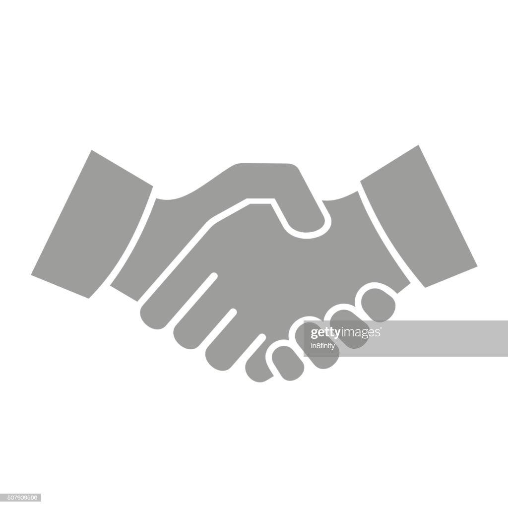 Handshake Icon on White Background. Vector