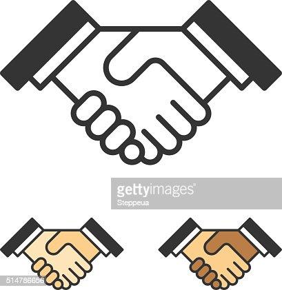 Handshake Icon Vector Art   Getty Images