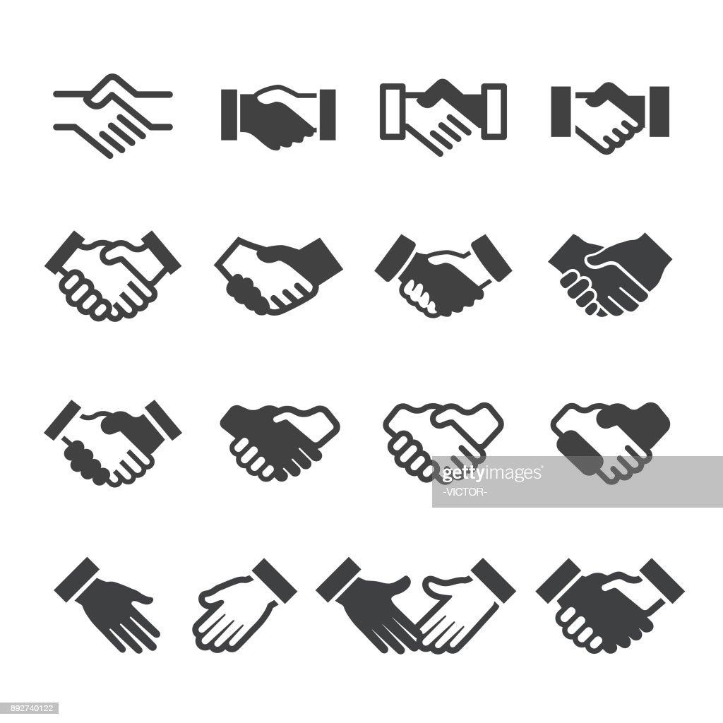 Icone handshake - Serie Acme : Illustrazione stock