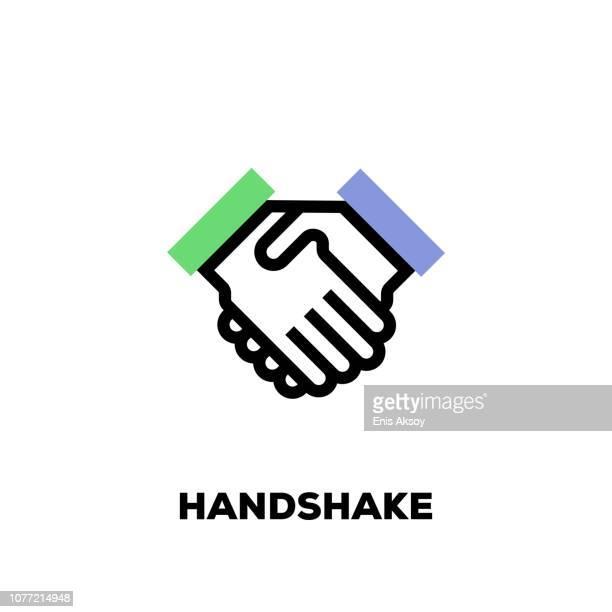 Handshake Liniensymbol