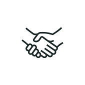 Handshake Line Icon