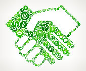 Handshake  Nature and Environmental Conservation Icon Pattern