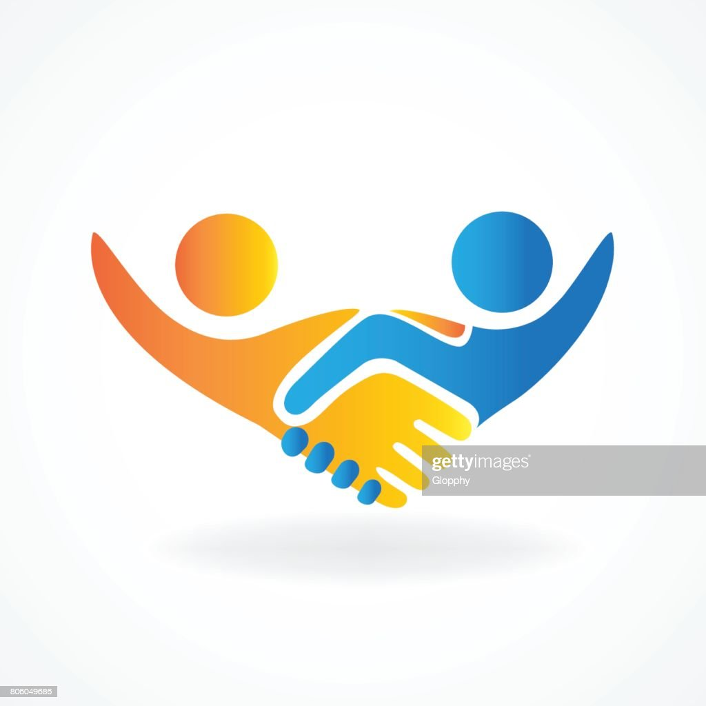 Handshake people in business vector icon design