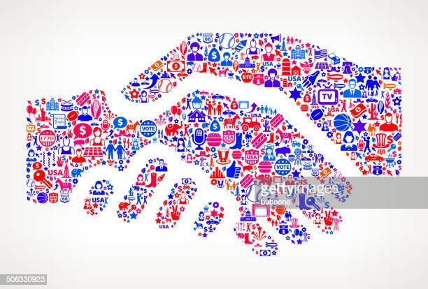 Handshake US royalty free vector art Pattern